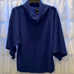 Royal Blue cowl neck Lane Bryant sweater